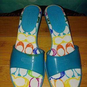 Coach Shoes - Coach Nichelle jellie with kitten heel 9.5